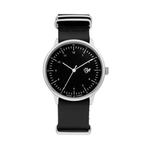 Zegarek z czarnym paskiem i czarnym cyferblatem CHPO Harold