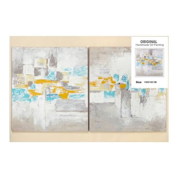 Zestaw 2 obrazów Art, 100x100 cm