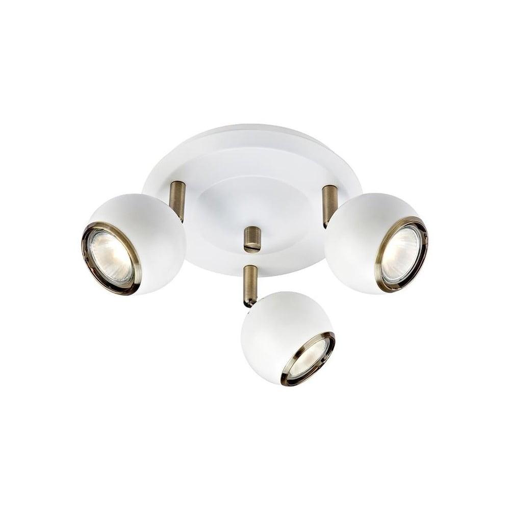 Biała lampa sufitowa z elementami w kolorze złota Markslöjd Coco