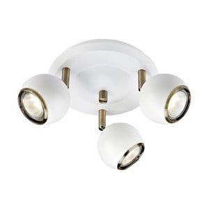 Biała lampa sufitowa ze szczegółami w kolorze złota Markslöjd Coco
