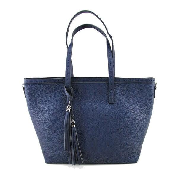 Skórzana torebka Sally Navy
