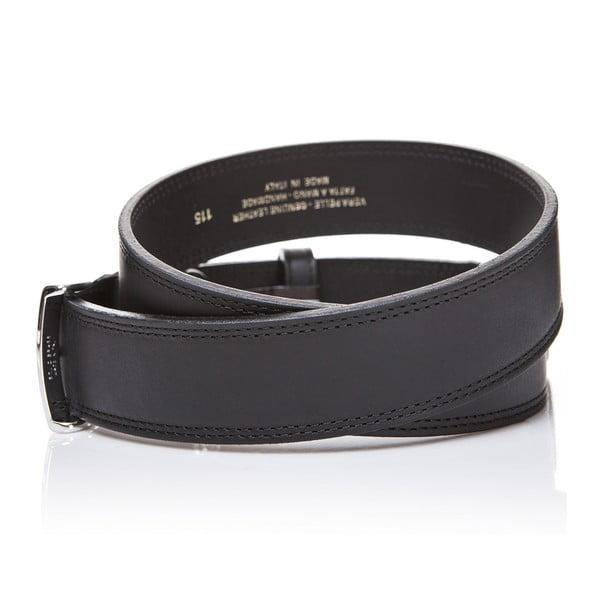 Pasek skórzany Elegant Black, 115 cm