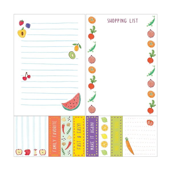 Zestaw Chronicle Books Kitchen Sticky Notes + To-Do List