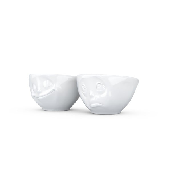 Biały komplet szczęśliwych filiżanek  58products