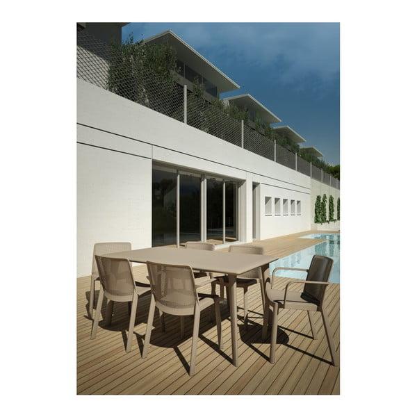 Beżowy stół ogrodowy Resol Dessa, 160x90cm