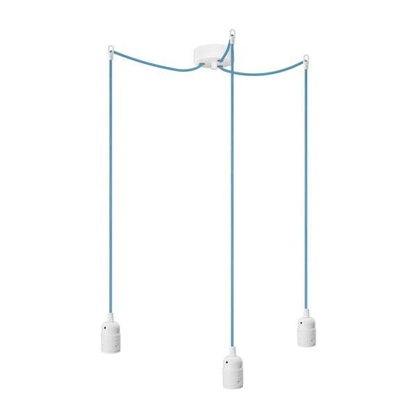 Trzy wiszące kable Uno, niebieski/biały