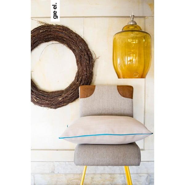 Poduszka z turkusową lamówką, 40x60 cm