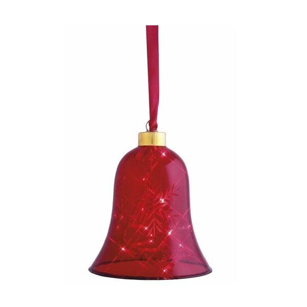Świecący dzwonek Vesta Red, 12 cm