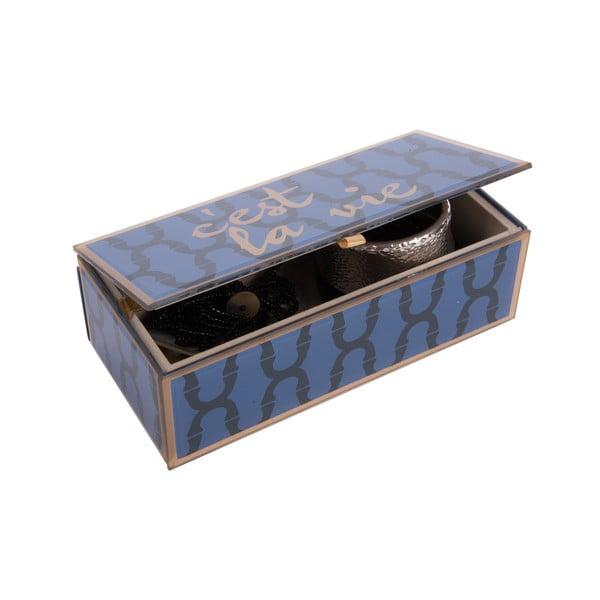 Szklana szkatułka na biżuterię C´est la vie