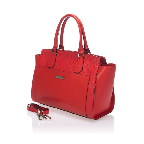 Skórzana torebka Krole Kristen, czerwona