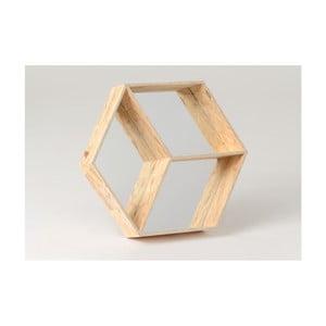 Półka z lustrem Amadeus, 55x48 cm