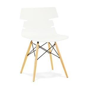Białe krzesło do jadalni Kokoon Design Strata