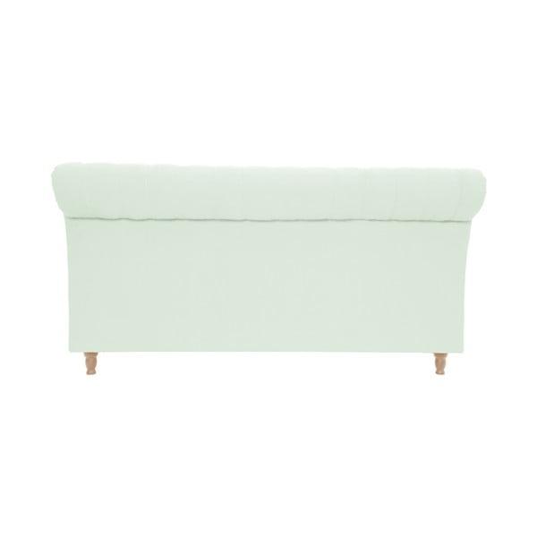 Pastelowo zielone łóżko z naturalnymi nóżkami Vivonita Allon, 160x200 cm