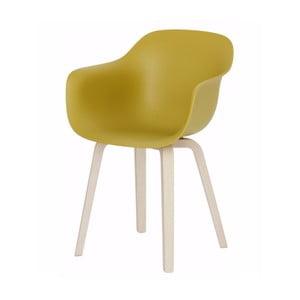 Żółte krzesło z podłokietnikami Magis Substance