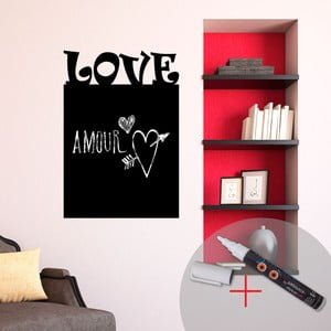 Naklejka/tablica do pisania Love + biały flamaster