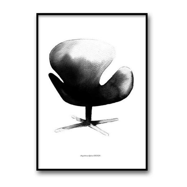 Plakat autorski Swan Chair, 50x70 cm