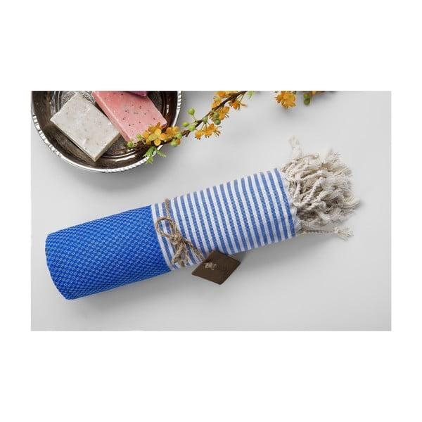 Ręcznik hammam Jacquard Loincloth Blue, 100x180 cm