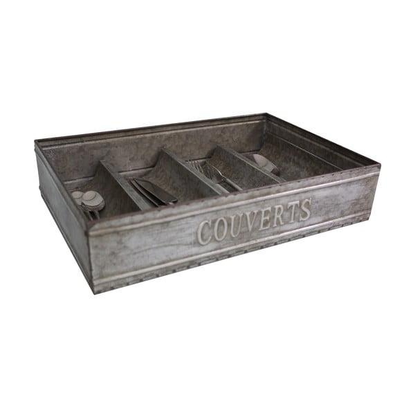 Metalowy wkład na sztućce do szuflady Antic Line Cuttery