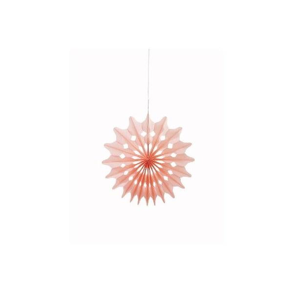 Dekoracja papierowa Fan Sorbet, 3 szt.