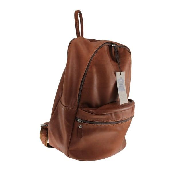 Brązowy skórzany plecak Gio