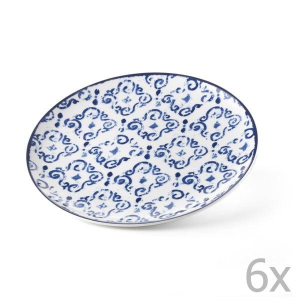 Zestaw 6 talerzy Antico Blue, 26 cm