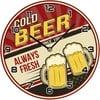 Szklany zegar Cold Beer, 30 cm