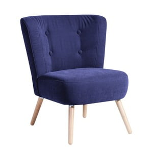 Granatowy fotel Max Winzer Neele Velor