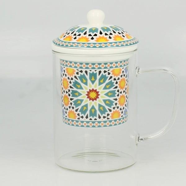 Szklany kubek z sitkiem Maroko B, 450 ml