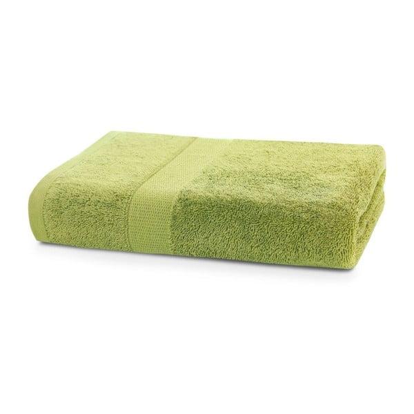 Limonkowy ręcznik DecoKing Marina, 50x100 cm