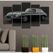5-częściowy obraz Czarna elegancja