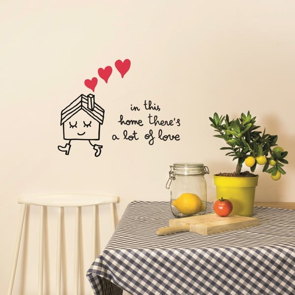 Naklejka In This Home, 28x31 cm