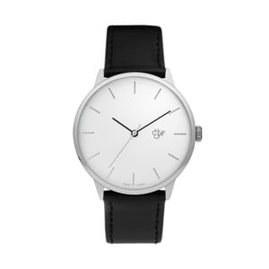 Zegarek z czarnym paskiem i białą tarczą Cheapo Khorshid Vegan