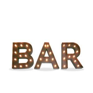 Zestaw 3 świecących liter BAR