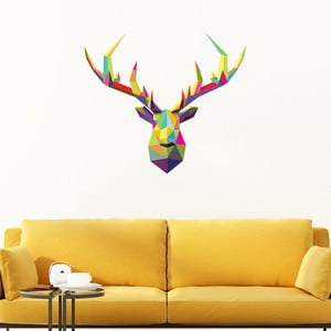Naklejka Ambiance Deer Multicolor