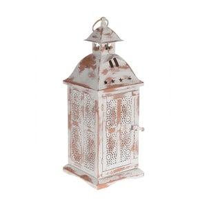 Metalowy lampion Antique White