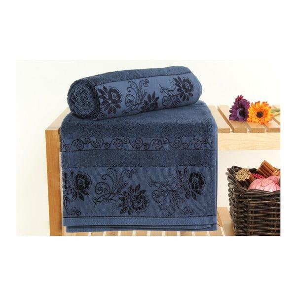 Zestaw 2 ręczników Selen Dark Blue, 70x140 cm