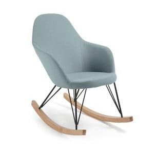 Niebieski fotel na biegunach La Forma Travers