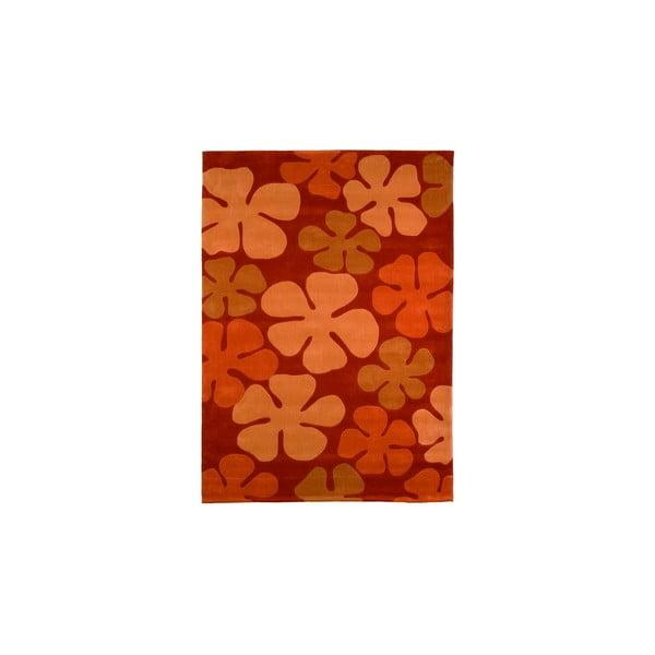 Dywan ręcznie tkany Calypso, 140x200 cm, pomarańczowy