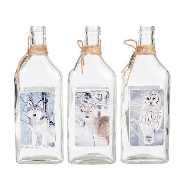 Komplet 3 wazonów Bottle Game