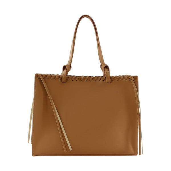 Skórzana torebka Linda, brązowa