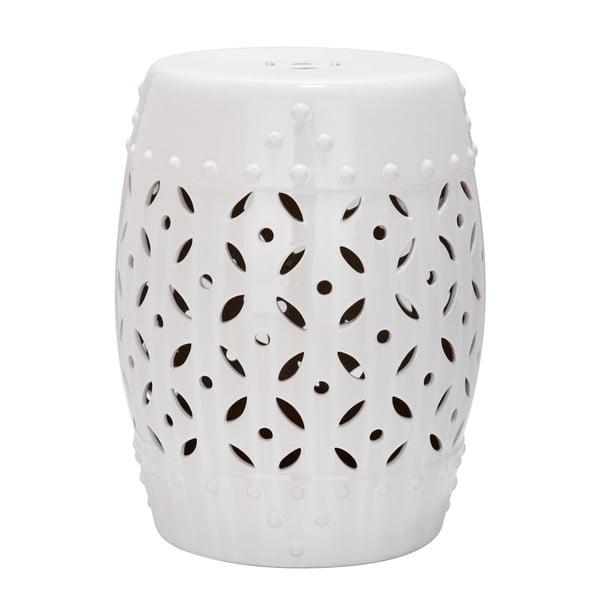 Stolik ceramiczny Cyprus, biały