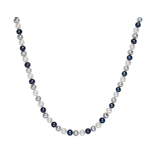 Biało-niebieski   perłowy naszyjnik Chakra Pearls, 120 cm