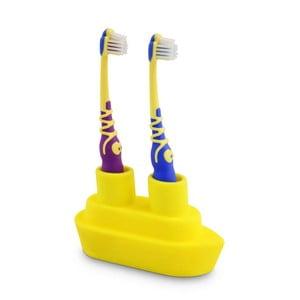 Żółty stojak na szczoteczkę do zębów J-Me Boat