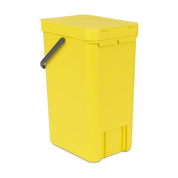 Kosz Sort & Go 16 l, żółty