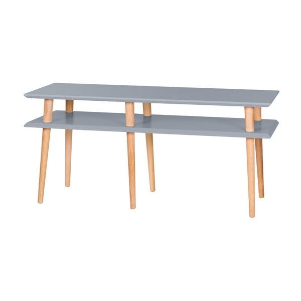 Ciemnoszary stolik Ragaba Mugo, dł. 119 cm