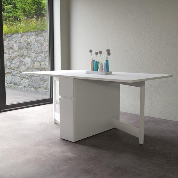Biały składany stół wielofunkcyjny Woodman Kungla