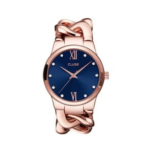 Zegarek damski Elegante Stones Rose Gold/Royal Blue, 38 mm