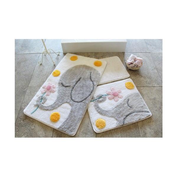 Zestaw 3 dywaników łazienkowych Alessia Buyuk Fil Grey