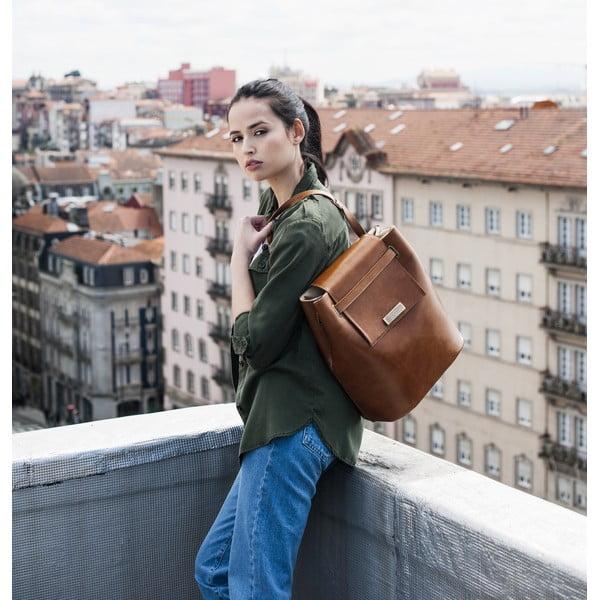 Skórzana torebka Maria Maleta Bucket Classic