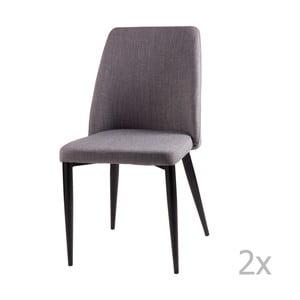 Zestaw 2 jasnoszarych krzeseł sømcasa Melissa